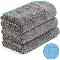 Microfiber Cleaning Cloth for Cars, Car Detailing Cloth n Microfiber Wax Applicator Combo for Car Washing, Drying…
