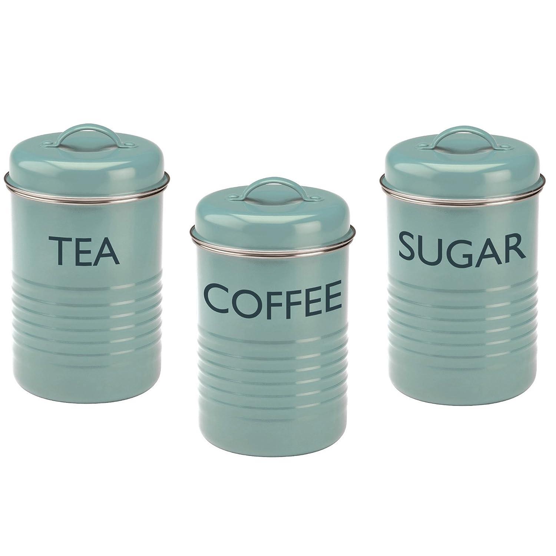 Amazon.com | Typhoon Vintage Kitchen Tea/Coffee/Sugar Canisters ...