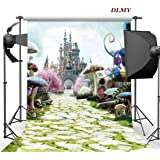 DLMY 5x7ft Alice in Wonderland Birthday Party Supplies Photography Backdrop for Photo Backgrounds Decorations Studio Props