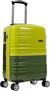 Rockland Melbourne Hardside Expandable Spinner Wheel Luggage, Two Tone Green