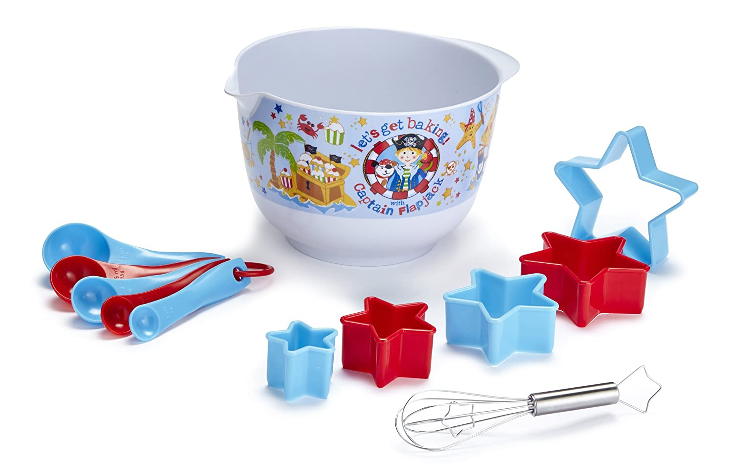 Cooksmart Kids 12-Piece Captain Flapjack Mixing Bowl Set 9052