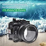 Navitech Waterproof Underwater Housing Camera Dry Bag Case Compatible with The Canon EOS 2000D DSLR Camera
