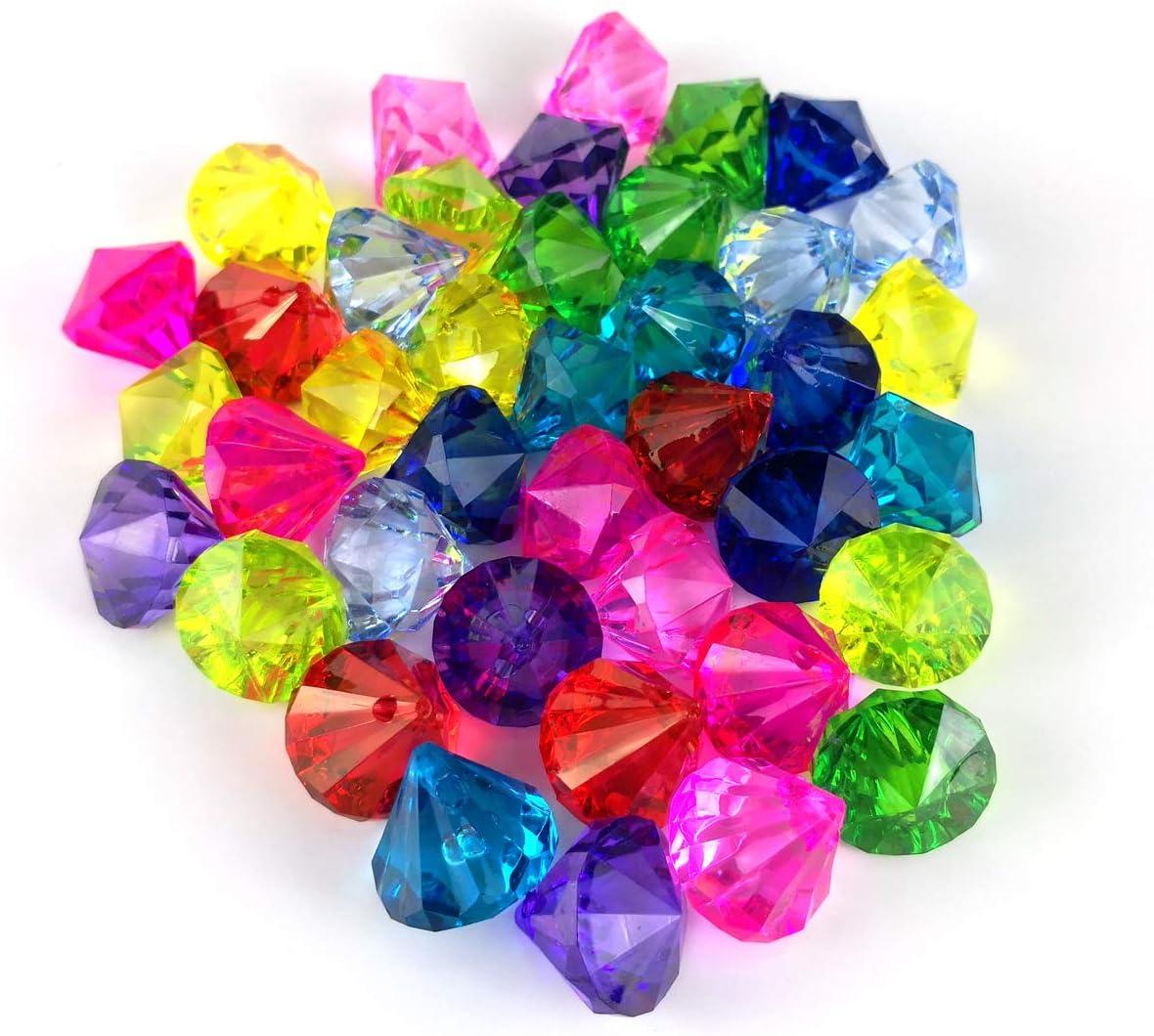 Acryl Diamant Edelsteine Pirate Künstliche Juwelen Schatz Hochzeit Geburtstag
