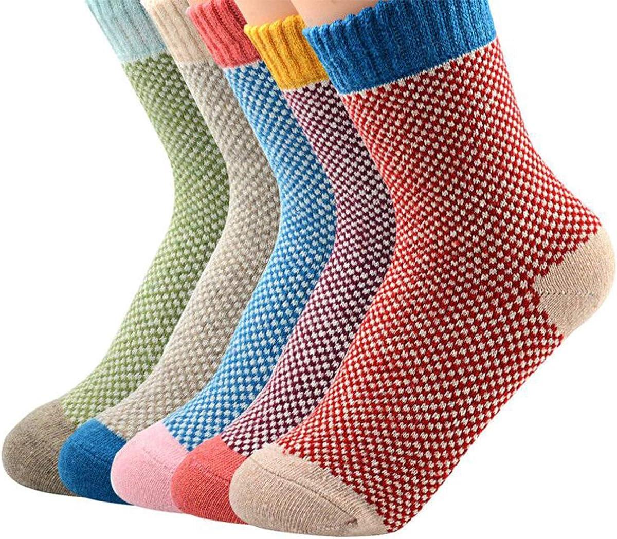Century Star Womens Athletic Socks Knit Pattern Sports Socks Winter Wool Socks Crew Cut Cashmere Socks Warm Soft Socks