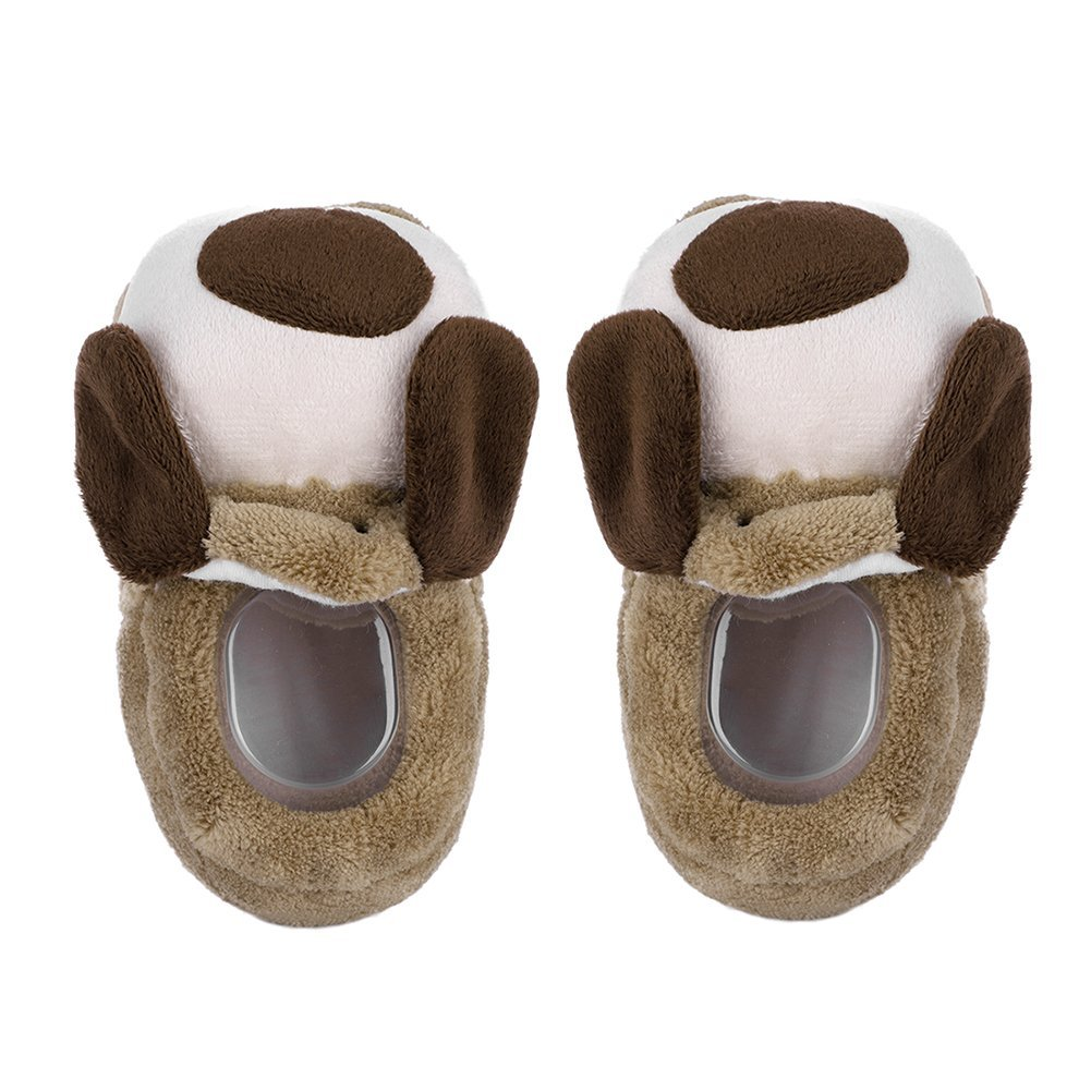 IBLUELOVER 6-7 US Toddler Slippers Kids Girls Boys for 0-2T Winter Slippers Thermal Ankle Boots Antiskid Bootie Shoes Indoor Outdoor Footwear