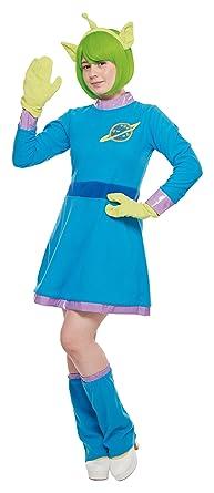 8393f2aa5 Amazon.com: Disney's Alien Costume - Toy Story Dress - Teen/Women's ...