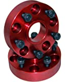 "Alloy USA 11300 Red 1Wheel Spacer Pair (1.5"", 5 x 5"" Bolt Pattern)"