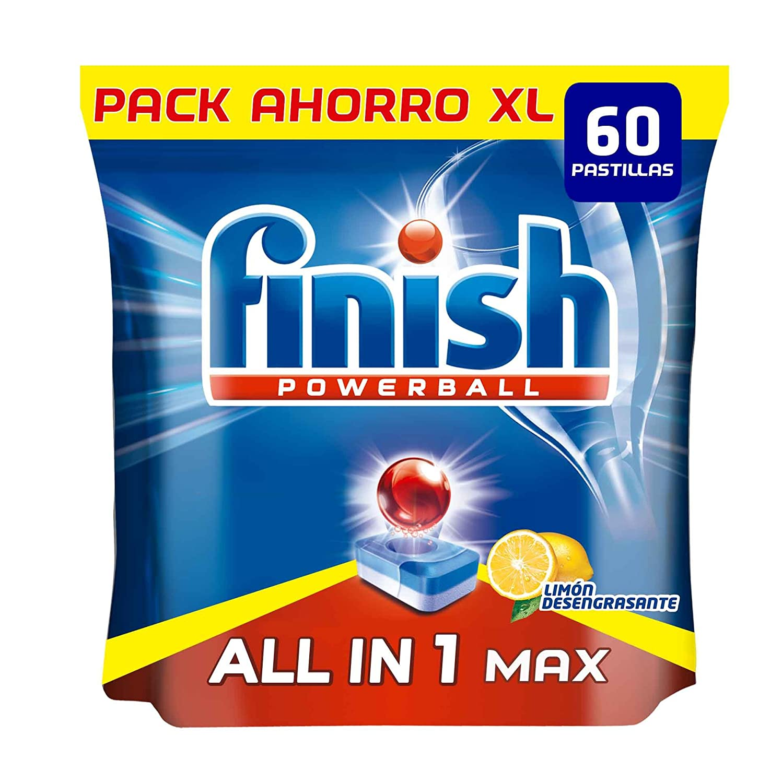 Finish Todo en 1 Max Limón Pastillas para Lavavajillas - 60 ...