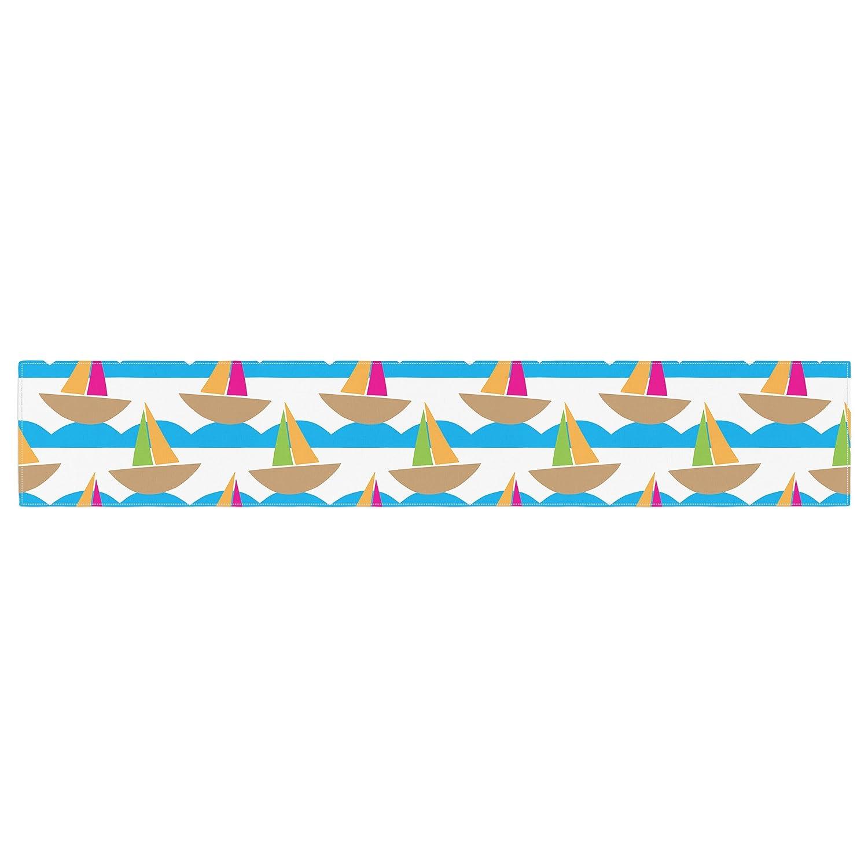 16 x 180 KESS InHouse Apple Kaur Designs Beside the Seaside Boats Table Runner