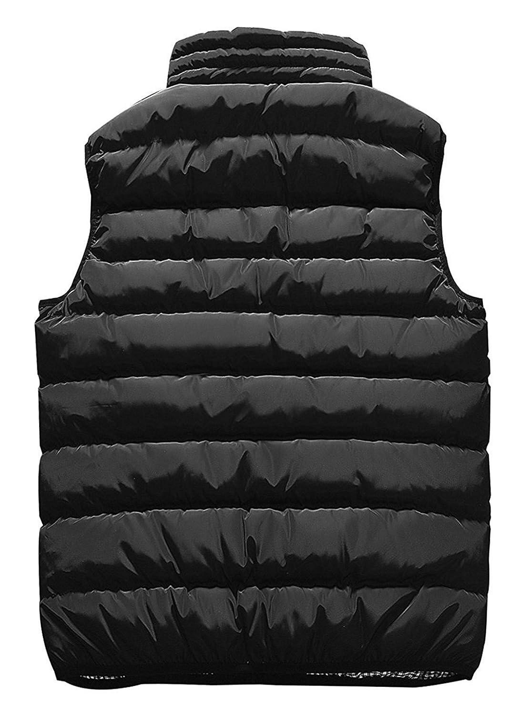 smille Comfortable Mens Winter Puffer Coat Full Zip Warm Lightweight Down Jacket Outwear