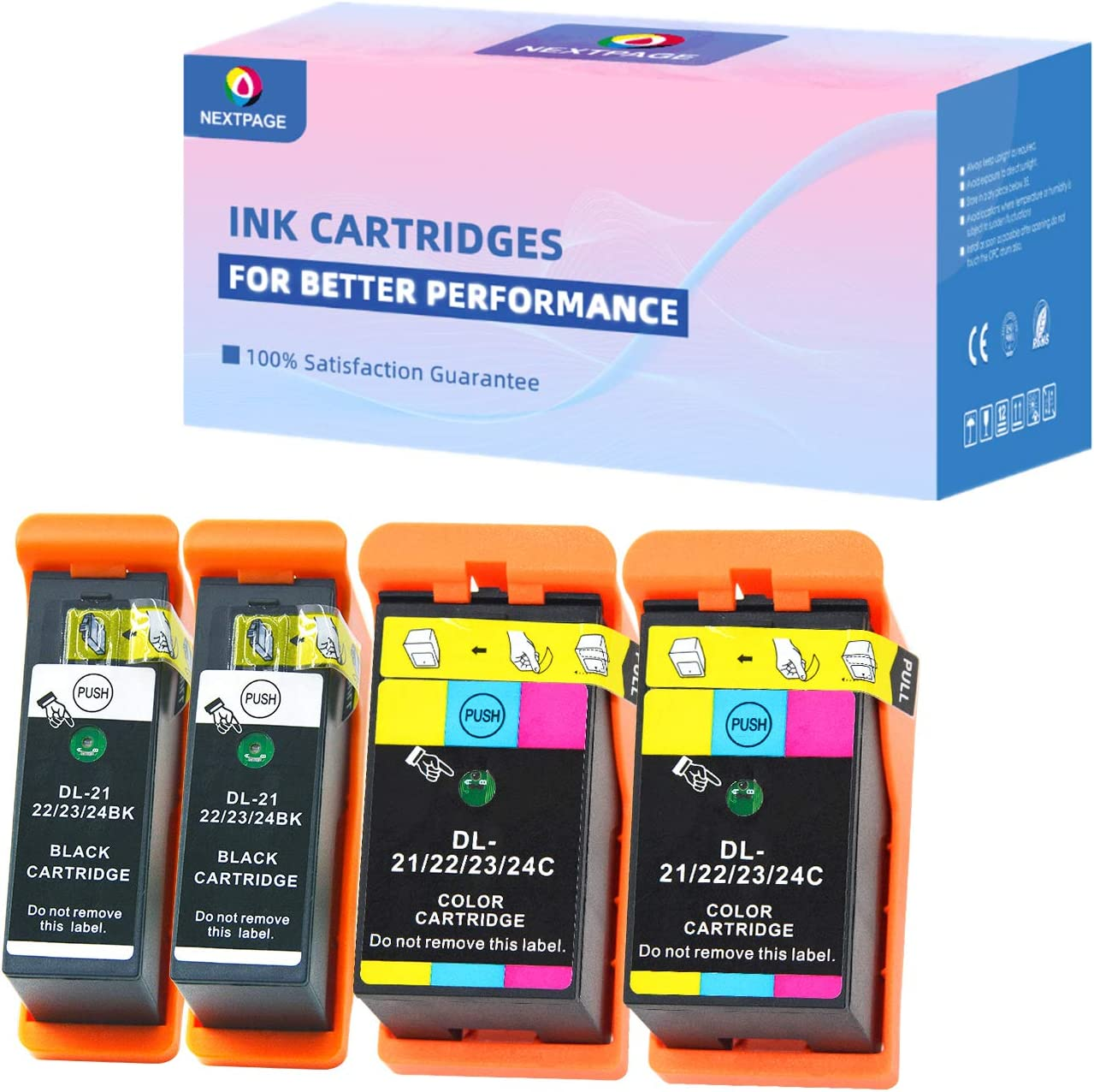 NEXTPAGE Dell Series 21 Ink Cartridges Replacement for DELL V313 V313W V515W P513W P713W V715W Printers