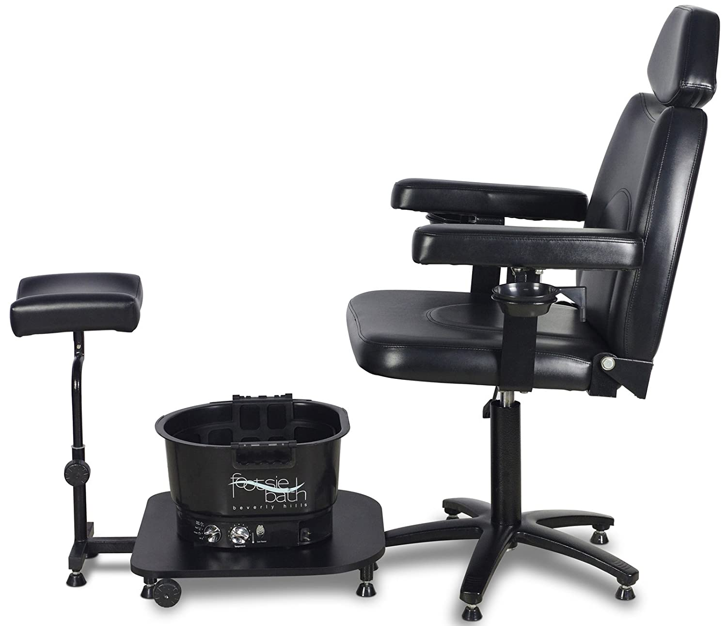 "Amazon Icarus ""Zenith"" Black Pedicure Foot Spa Station Chair"