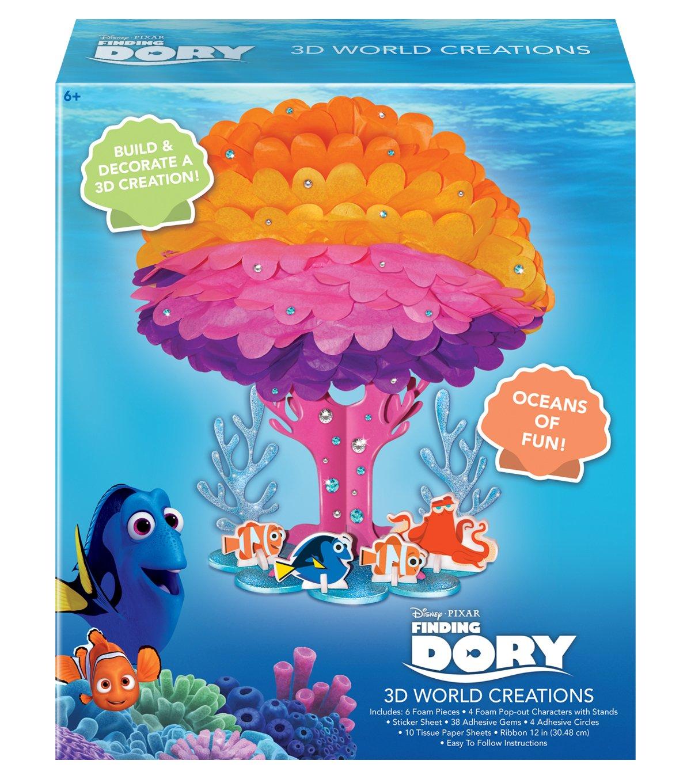Disney Pixar 3D World Creations Oceans of Fun Arts and Crafts Model Kit