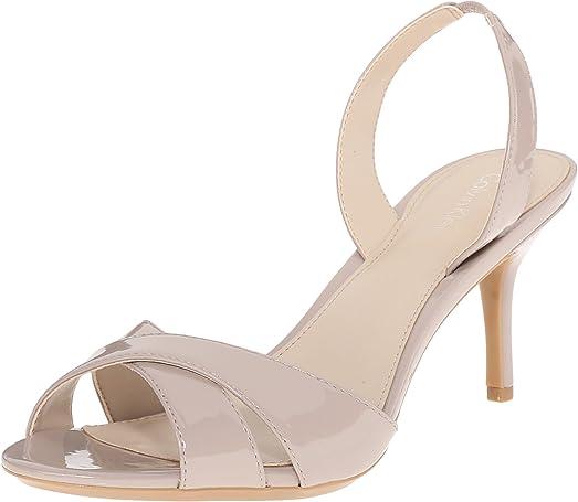 Womens Sandals Calvin Klein Lucette Greige Patent