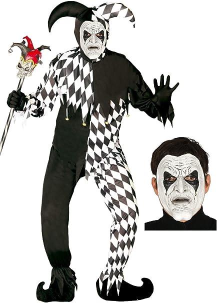 Disfraz de Arlequin con mascara: Amazon.es: Ropa y accesorios