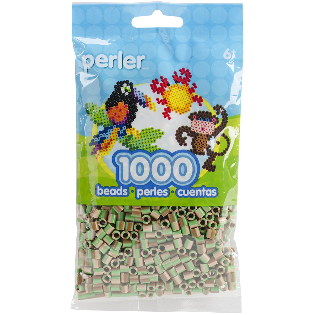 Perler Beads Camo Striped Beads (1000 Count) PSBB05-15172