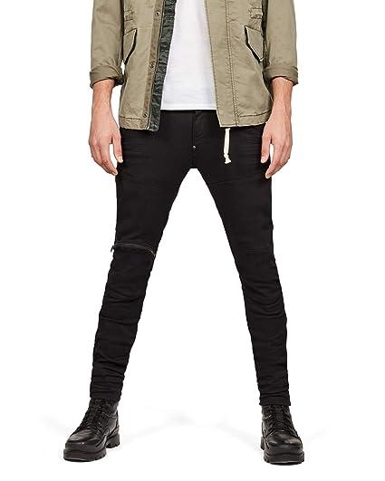 21ba20a3e09 G-STAR RAW Men's 5620 Elwood 3D Zip Knee Skinny Jeans, Blue (Rinsed 082),  W28/L30: Amazon.co.uk: Clothing