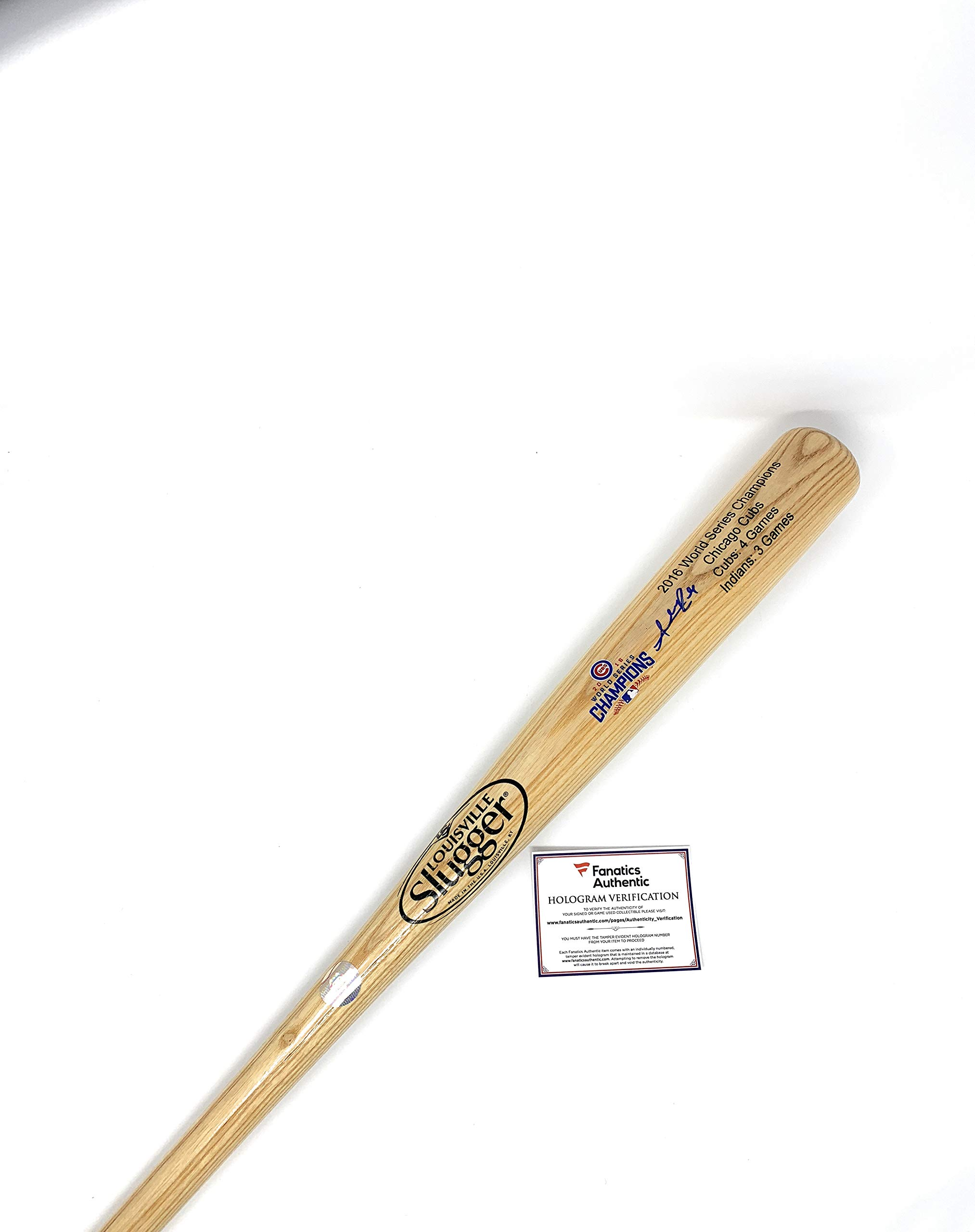 Addison Russell Chicago Cubs Signed Autograph Baseball Bat Limited Edition World Series Blonde Fanatics Authentic Certified