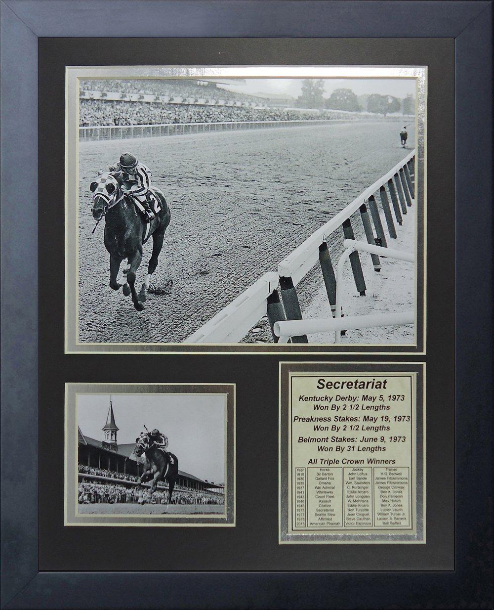 Legends Never Die Secretariat 1973 Triple Crown Winner Framed Photo Collage, 11'' X 14'' by Legends Never Die