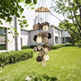 ASTARIN Coconut Shell Wind Chimes Outdoor, Bamboo Wind Chimes Outdoor, Perfect Decoration for Your own Patio, Porch…