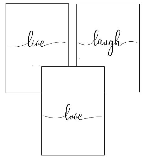 4Good Wandbilder Wohnzimmer als lustige Sprüche, Motivations Bilder fürs  Büro oder die Küche, Bild mit Spruch als Schlafzimmer Poster ohne Rahmen ...