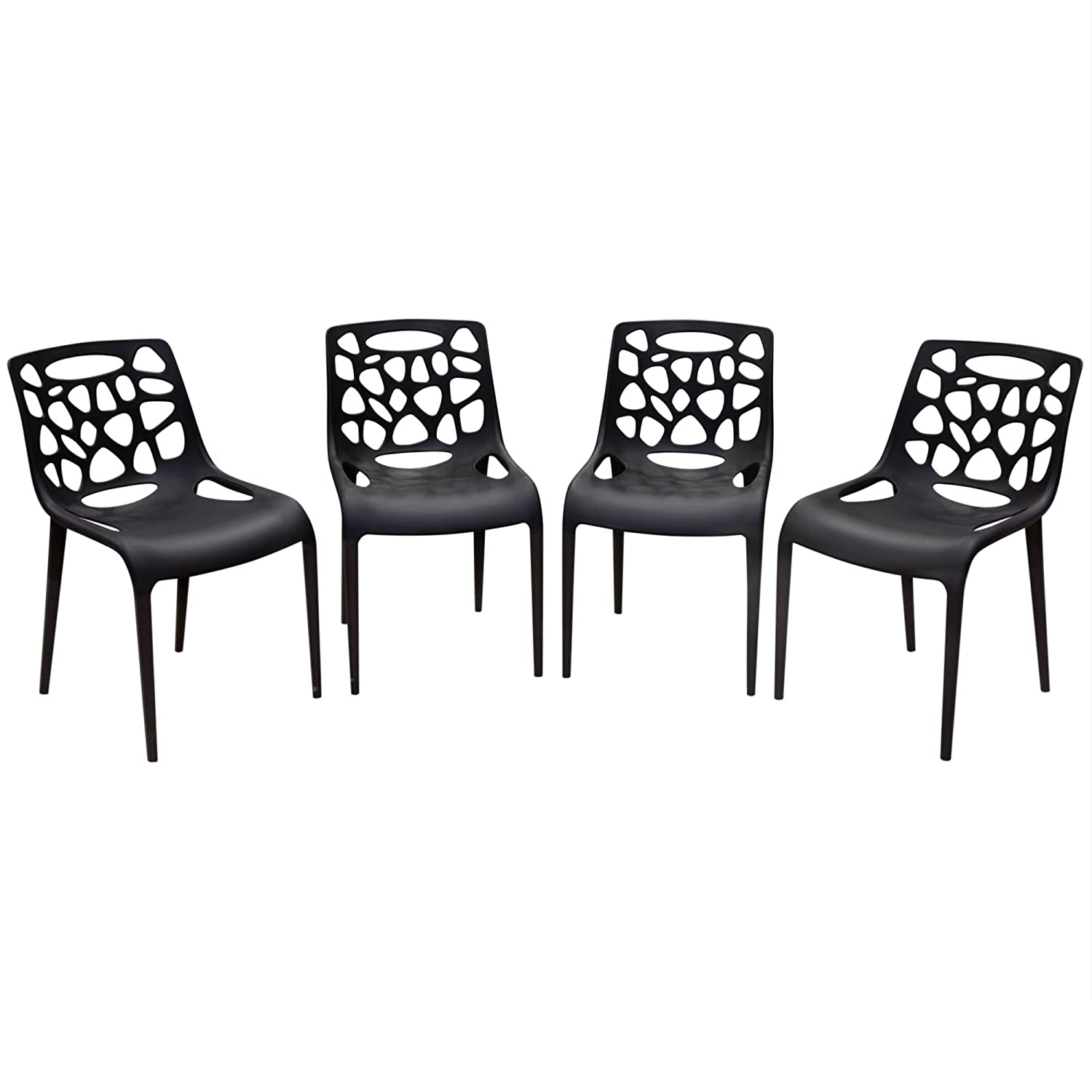Magnificent Amazon Com Diamond Furniture Oceandcbl4Pk Ocean 4 Pack Gmtry Best Dining Table And Chair Ideas Images Gmtryco
