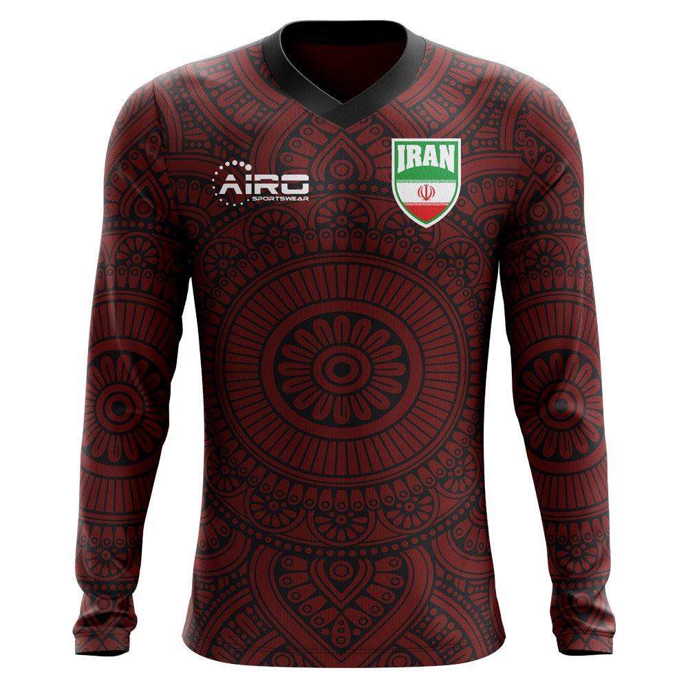 Airo Sportswear 2018-2019 Iran Long Sleeve Away Concept Football Soccer T-Shirt Trikot