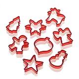 Lurch 10520 Stampi per dolci con forme natalizie, set da 8, colore: Rosso