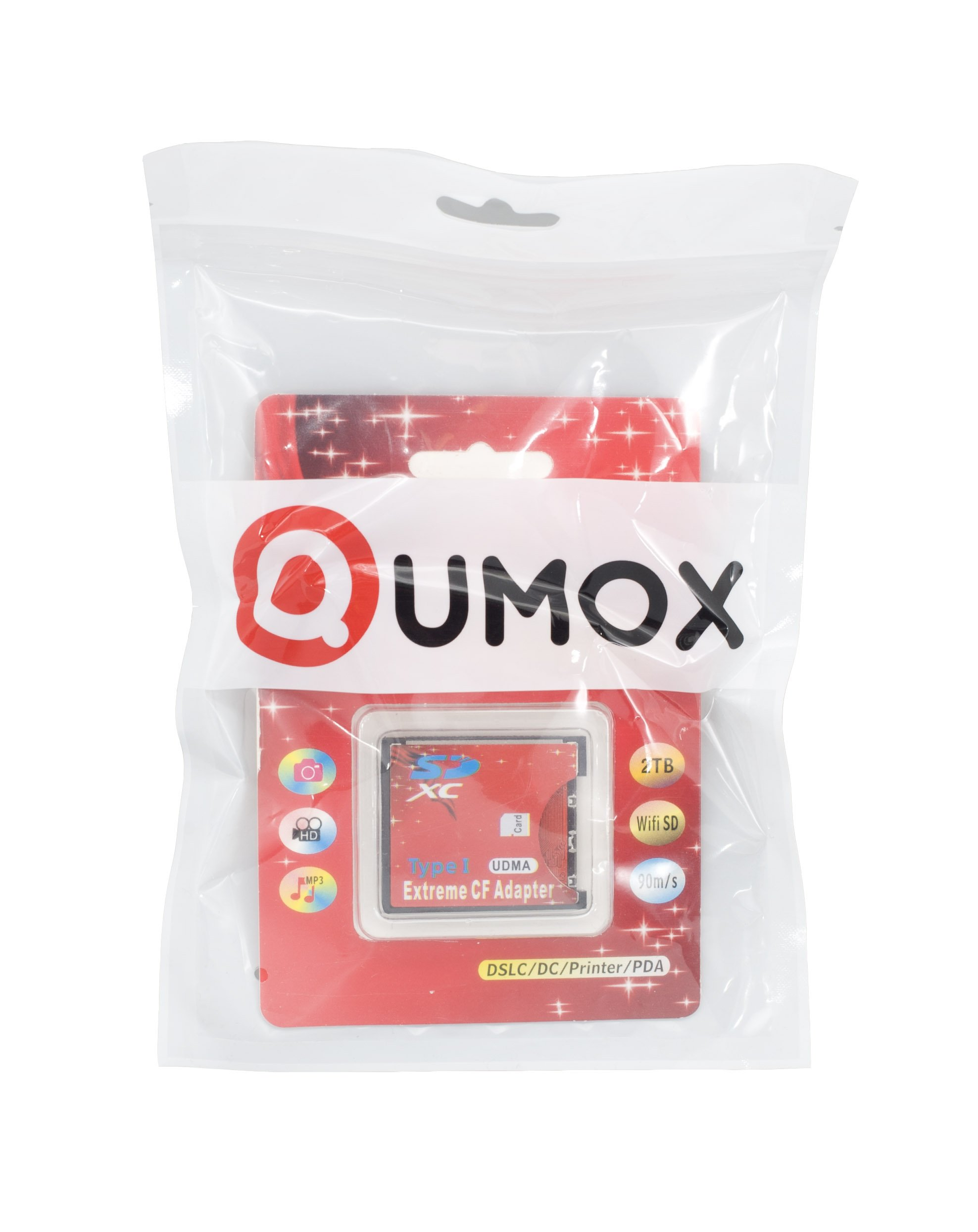 QUMOX SD SDHC SDXC To CF Compact Flash Memory Card Adapter Reader type 1 WIFI … by QUMOX (Image #1)