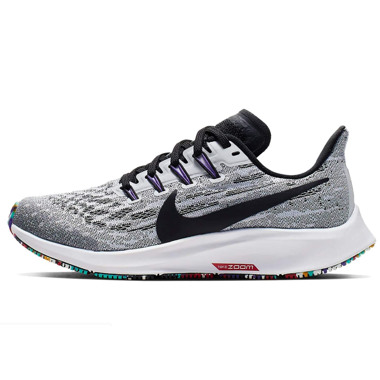 Nike Kids' Grade School Air Zoom Pegasus 36 Running Shoes (6, Blk/Wht/HypJade/HypGrape)