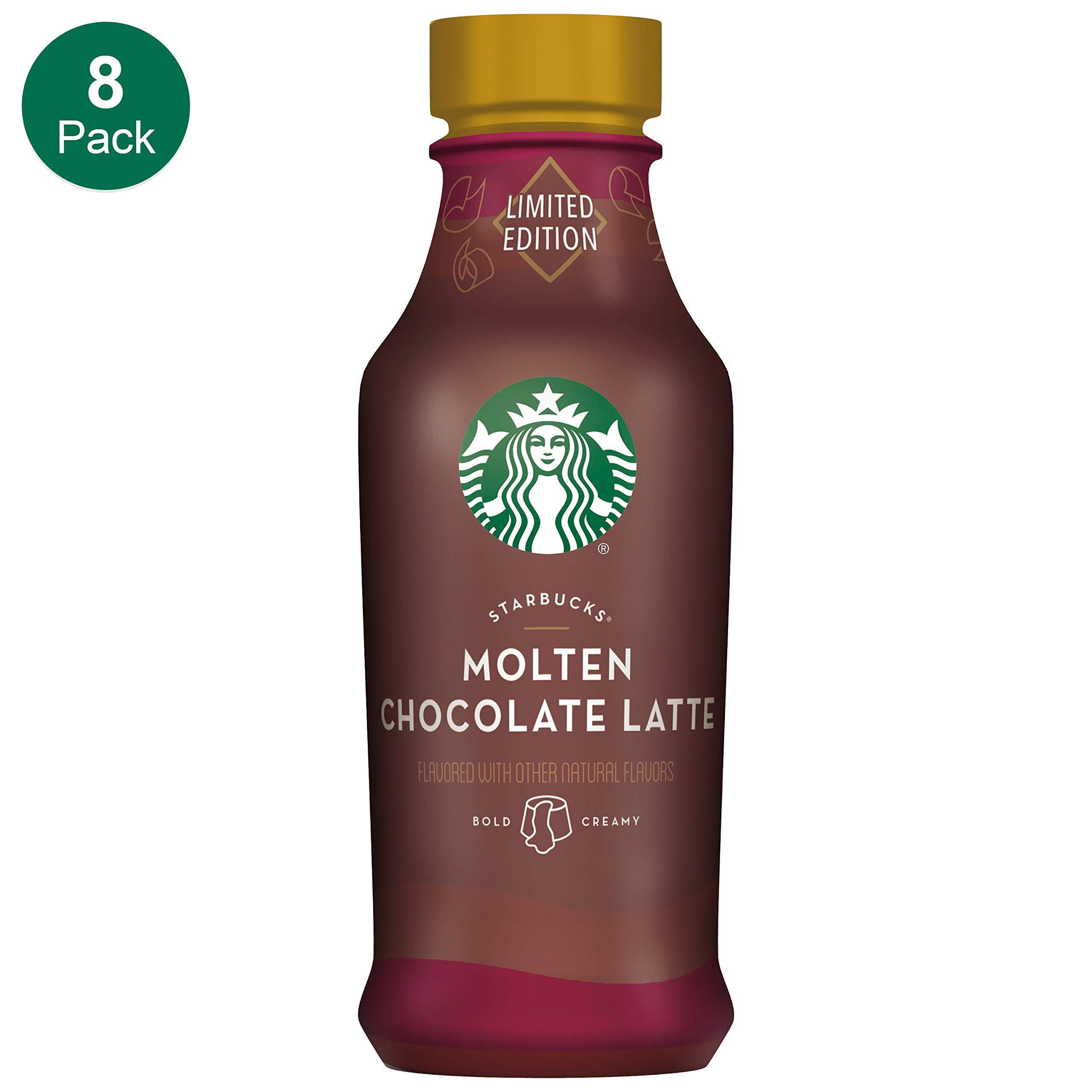 Starbucks, Iced Latte, Molten Chocolate, 14 Fl Oz (Pack of 8) by Starbucks
