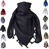 """Shemagh scarf men & women tactical 100% cotton military head neck wrap shawl motorcycle hiking paintball face mask 42""""x42"""""""