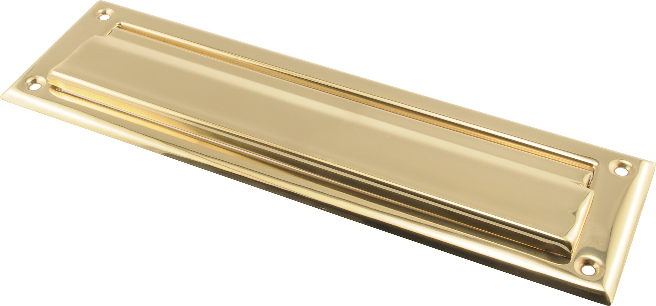 The Hillman Group The Hillman Group 852390 2 x 11'' Mail Slot- Solid Brass - Bright Brass Finish 1-Pack