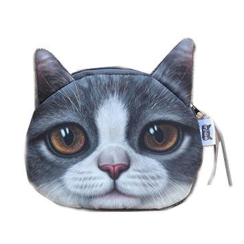 Gioger® Cachorros Gatos 3D Pet impresos monederos lindos Coin Mujer Monedero Dinero Bolsas Girls bolsos de embrague: Amazon.es: Equipaje