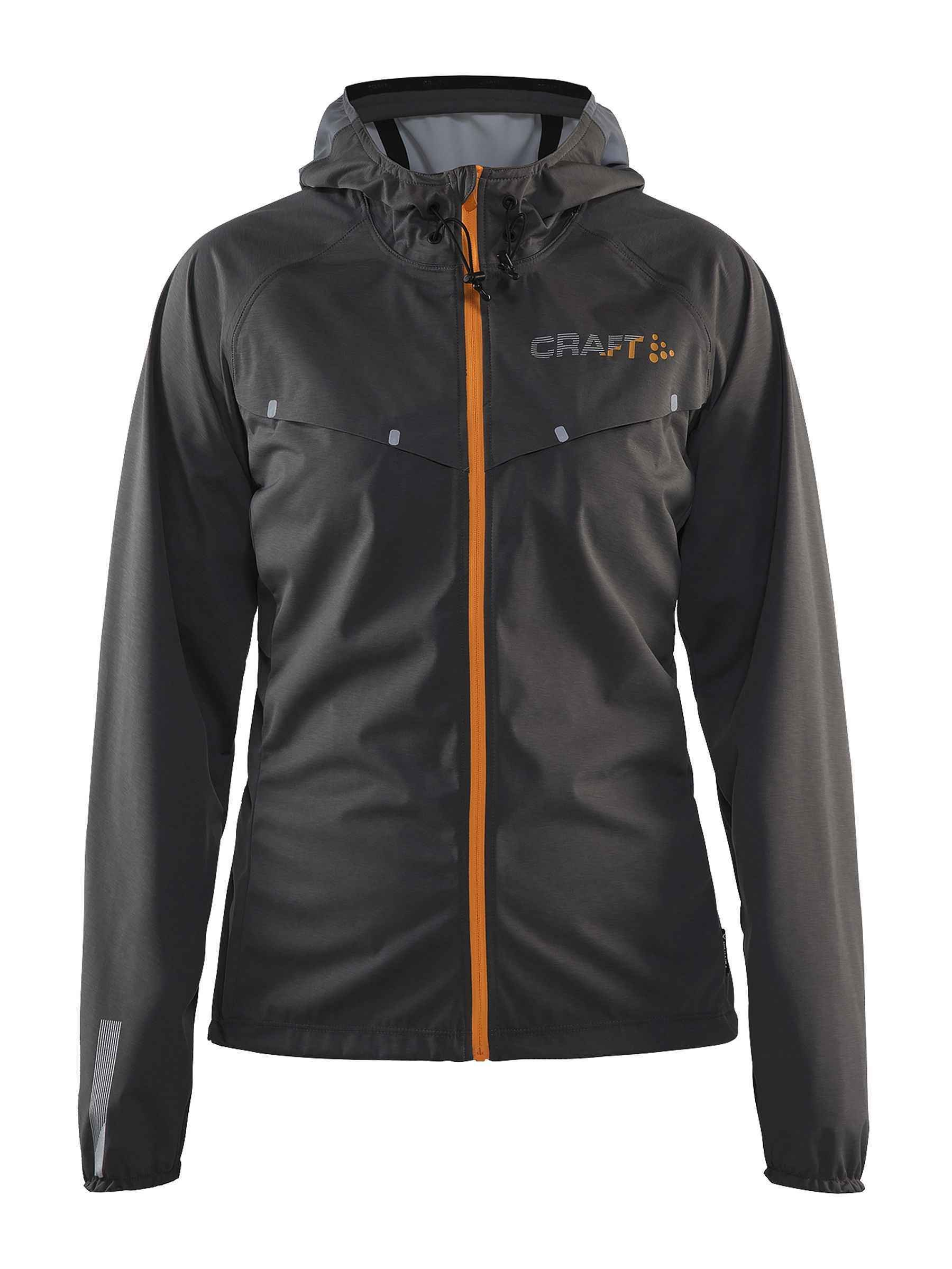 Craft Sportswear Womens Repel Running and Training Outdoor Sport Windproof and Waterproof Reflective Fitted Hooded Jacket