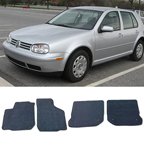 Floor Mat Fits 1999-2005 Volkswagen Gli Golf Jetta Mk4   Front & Rear Gray