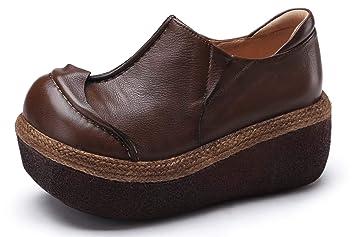Shoe house Las Mujeres Deslizan la Plataforma en Mocasines Zapatos Confort Ante Mocasines Moda Casual Zapatillas de cuña: Amazon.es: Deportes y aire libre