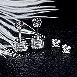 DovEggs Double 14K Ear Plugs 14K Solid White Gold