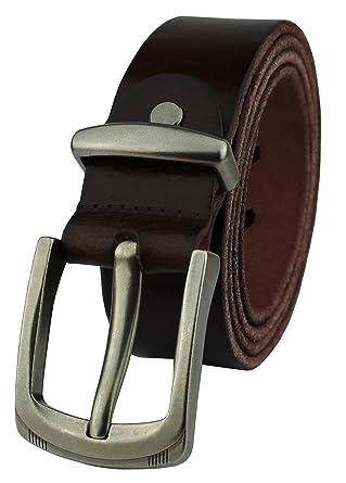 Heepliday Mens Leather Belt Full Grain Vintage Distressed Casual ... cf114bea76