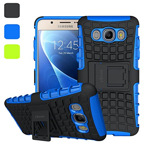 outlet store 2b4bf 23975 ykooe Coque Galaxy J5 2016, Housse Samsung Galaxy J5 Silicone Béquille Case  Anti-Slip Etui pour Samsung Galaxy J5 2016 - Bleu