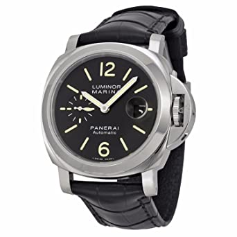Amazon.com  Panerai Men s Swiss Automatic Watch with Stainless Steel ... 50088ee06b67