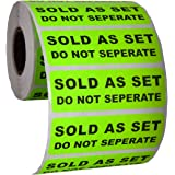 """Sold as a Set Do Not Separate Labels Stickers by Kenco 3"""" X 1"""" Fluorescent Green FBA Labels Shipping Labels (2 PACK (1000))"""