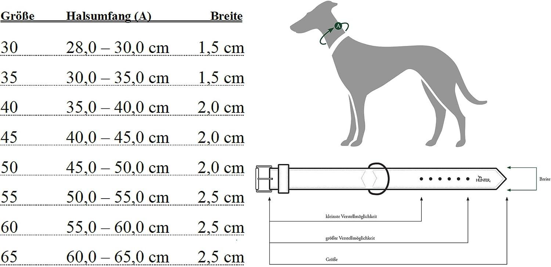 HUNTER SEVILLA VARIO PLUS Halsung f/ür Hunde mit hochwertigem und strapazierf/ähigem Nylon mit Kunstleder unterlegt