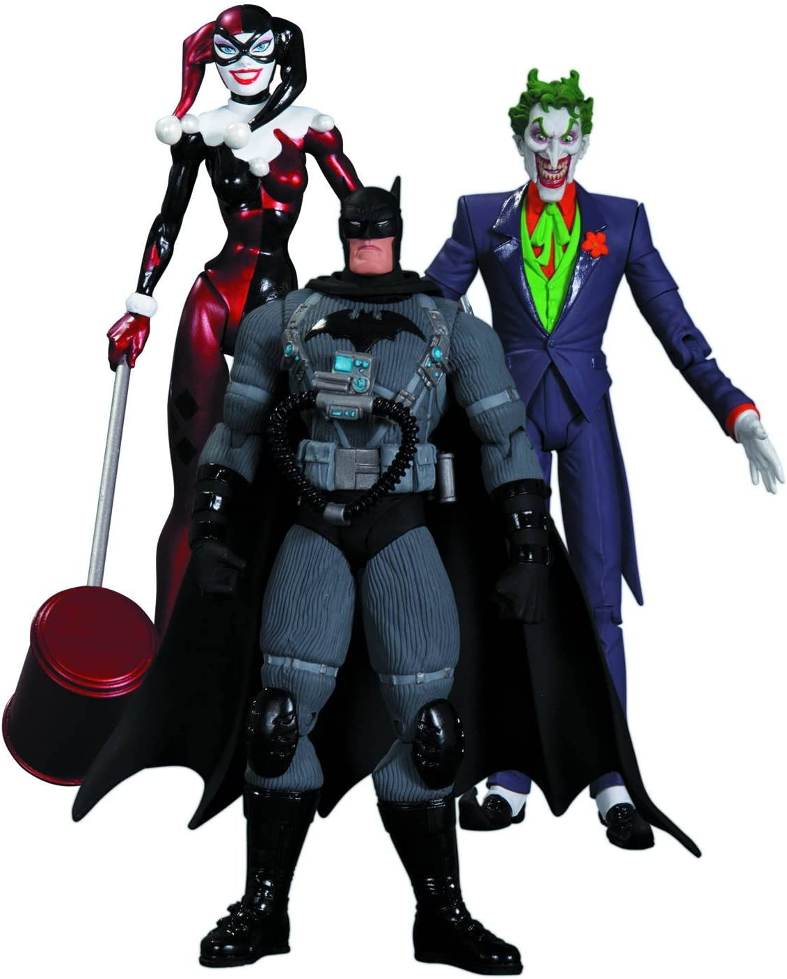 Amazon Com Dc Collectibles Hush The Joker Harley Quinn And Stealth Batman Action Figure Playset 3 Pack Toys Games
