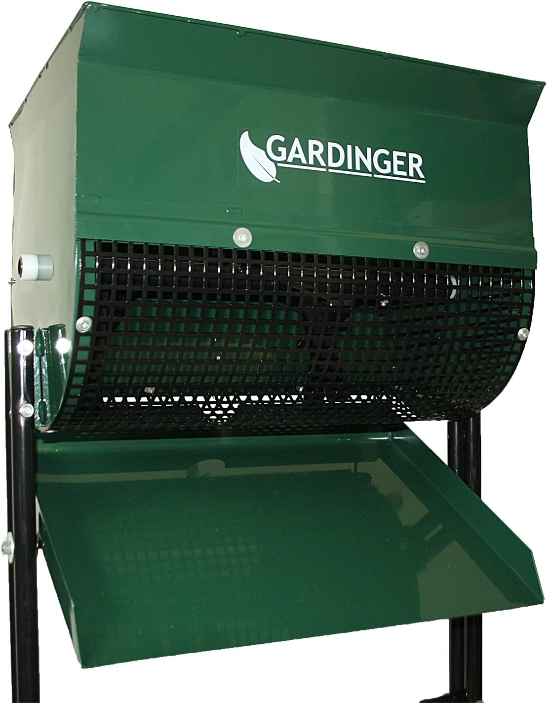 GARDINGER Feinkompostsieb Stahlblech lackiert mit Drehspindel (Kompostsieb Sieb) Feinkompostierer