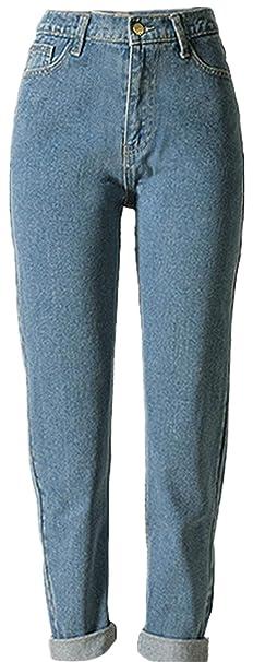 BIRAN Pantalones Vaqueros De Las Señoras Pantalones Azules ...