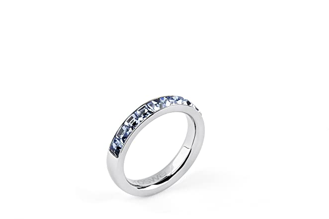 6 opinioni per Brosway- SINTONIA- Anello TRING acciaio e swarovski light sapphire BTGC49