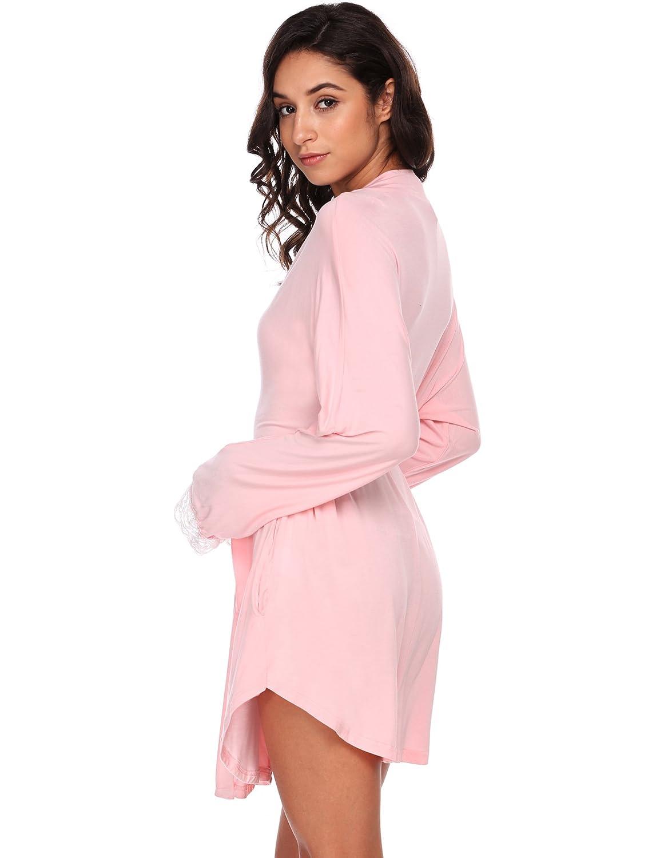 814d7a4e78d81 Avidlove Womens Kimono Knit Cotton Robe Hotel Short Spa Bathrobe at Amazon  Women's Clothing store:
