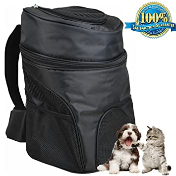 Aoxsen Big Pet Backpack Double Shoulder Bag Dog Cat Carrier Portable Front Back Airline Travel