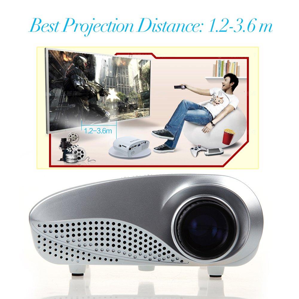 HD Mini proyector DBPOWER pantalla LED 1000:1 de contraste de ...
